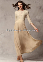 American style vintage lace long pleated skirt,elegant and soft