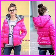 fashion winter women Hooded warm coat Long sleeve zipper coat N0104