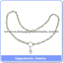 Stainless steel floating lockets chains with adjust chain(chain 7)