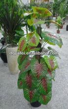 wholesale artificial/fake/man-made colorful taro tree/artificial plan
