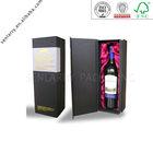 popular cardboard black wine bag in box with silk insert