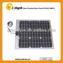 thin film photovoltaic modules SYK36-18MFX good quality mono flexible solar panels for golf-cart 36W