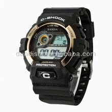 2015 new design hot sale fashion rubber digital men sport digital watches with MOQ 50 pcs China manufacturer Guangzhou