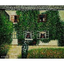 Handmade Gustav Klimt landscape oil painting, Forsthaus in Weissenbach Am