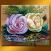 Romantic lover two flowers rose painting on off discount sale