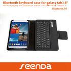 SEENDA newest Bluetooth Keyboard Tablet Stand Leather Case for Samsung Galaxy Tab 3 8.0 Inch