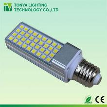 8w plc 2 pin led spot g23 gx23 g24 gx24 e27 lighting bulb lamp aluminium housing cool white 2 years warranty ce rohs