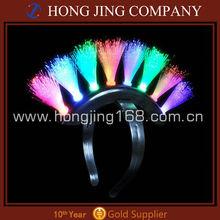 Multicolor Mohawk Flashing Led Fiber Optic Headband