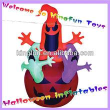 Ghost&pumpkin inflatable halloween decorations