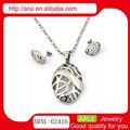 nuovo modello di collana nomi di colliri gioielli in argento set