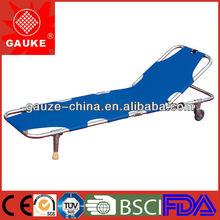 best choice !!! Hospital aluminum alloy foldaway stretcher two Castors