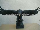 Cast bronze eagle small animal statues