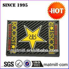Custom cheap promotional 3D logo fashional pvc bar mat/promotion bar mat glass plate mat