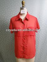 Women chiffon blouse kurta neck embroidery designs