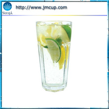 Machine Pressed Cooler Glass Cup Hign Ball Drinking Water Glass Cups with Logo