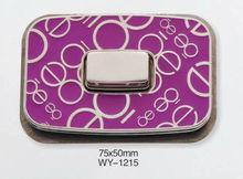 Purple square fashion handbags lock