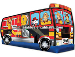 Hotsale Amusement Park Inflatable Fire Truck Bouncer