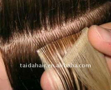 100% human hair remy skin weft hair extension