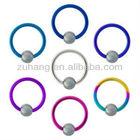 GRADE 23 PURE Titanium Captive Bead Rings Jewelry Nipple Piercing