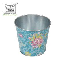 trendy printed zinc galvanized plant flower pots maui charm print