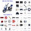 ATV parts Scooter parts Moped Parts Motorcycle Parts CG/CB/CG/GY6 50/70/90/110/125/200/250cc all parts available MC-03-150 150cc