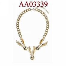 fashion jewelry metal animal rabbit fine necklace 2013