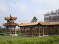 de asia oriental del templo de estilo chino baldosas de cerámica para el paisaje histórico de los sitios