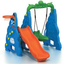TY-9143D Children Amusement Park Plastic Swing And Slide Set
