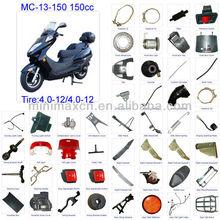 ATV parts Scooter parts Moped Parts Motorcycle Parts CG/CB/CG/GY6 50/70/90/110/125/200/250cc all parts available MC-13-150 150cc