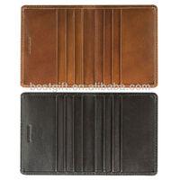 Bifold PU atm card cover
