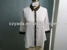 Women blouse collar design with contrast color