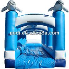 Single Lane Dolphin Slip and Slide Inflatable Slide