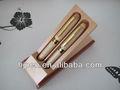 hj136127 venda quente artesanato de casal de madeira reciclada caneta caneta presente