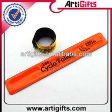 Custom design glow in dark slap bracelet