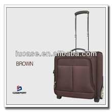 Custom Black Nylon Laptop Trolley Luggage Case For Business