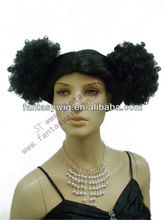 Guang Zhou black braid girl's synthetic wig with imported fiber POWDER PWFF(GF-W1412#2)