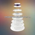 7 nivel de acrílico redondo del soporte de la torta de la boda y cumpleaños