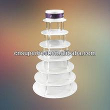 7 tier acrylic round cake stand for wedding & birthday