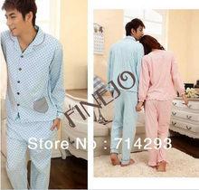 New Luxury Men's Cotton Pajamas Long sleeves Sleepwear Lover Sleepwear 11295_M
