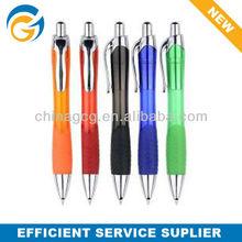 Rubber Grip,Color,Sliver,Plastic,Stylus Click Ball Pen