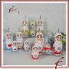 russia doll ceramic cruet set