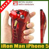 3D metallic Iron Man Movie Mark VII Armor Case Cover for Iphone 5 with LED Light