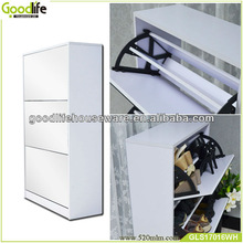 cube wooden shoe box cover with mirror made in china
