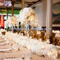 Braços 5 casamento candelabros de cristal na venda, grossista casamento central mh-1484