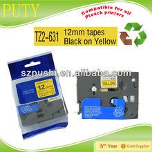 36mm tz661 black on yellow tape tze661 tze 661 laminating label tapes