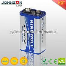 6lr61 9V alkaline battery used for battery torch