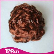 High quality tangle free virgin human hair men's toupee