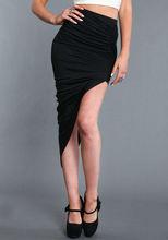 Gorgeous asymmetrical wrap wholesale skirts/latest skirt design pictures