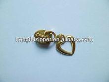 3# nylon zipper slider non-lock slider with fancy puller slider plated gold slide