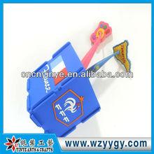 Customized rubber pen holder, soft pvc pen case for team premium